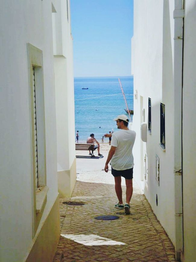 2013 Salema, Portugal Sea MyLove❤ Blue The Way Forward Shore Clear Sky Leisure Activity Summer 2013 Ocean View Portugal