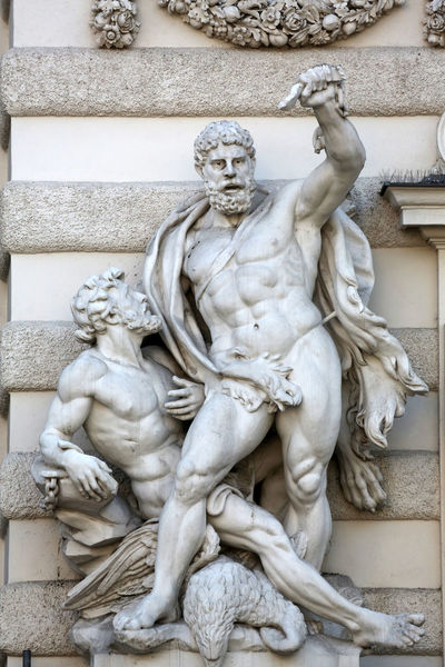 Hercules statue at the Royal Palace Hofburg in Vienna, Austria on October 10, 2014. Art Art And Craft Austria Carving Carving - Craft Product Craft Creativity Hercules Hofburg Human Representation Marble Monument Palace Power Sculpture Statue Stone Vienna