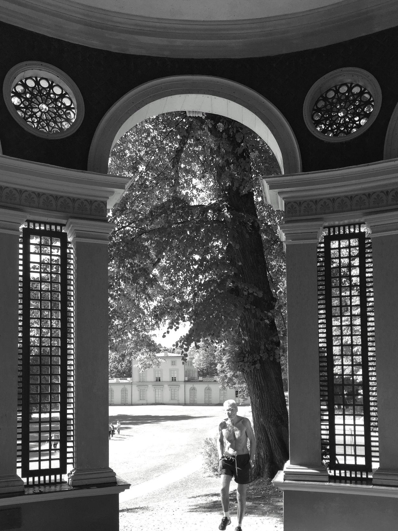 Full Length Tree Window Arch Built Structure Architecture Entrance Day Arched EyeEm Black&white! Streetphoto_bw Street Scene Shadows EyeEm Bnw Bw_collection Walking EyeEm EyeEm Team EyeEm Best Shots Architecture Blanco Y Negro Minimalism_bw