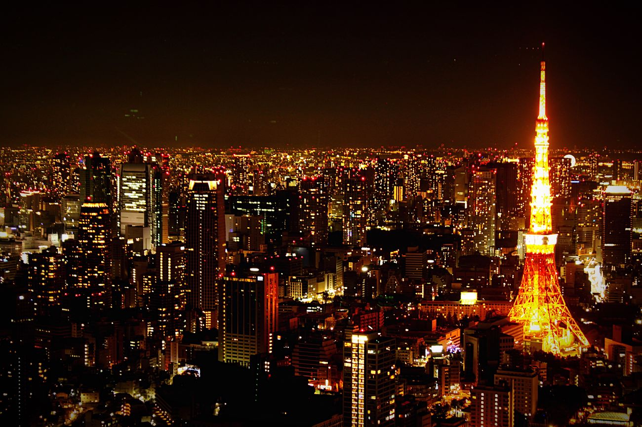 Cities At Night Tokyo Light 光の海