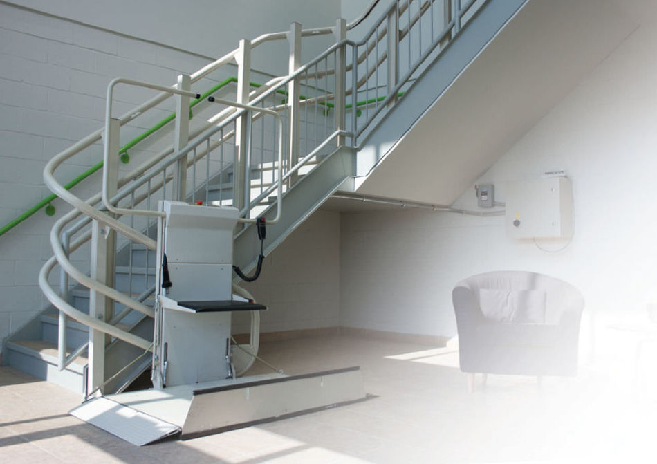 Country Home Elevator carries inclined wheelchair lifts from Savaria, a leading manufacturer of accessibility equipment. Contact us for more information on inclined platform lifts. http://bit.ly/25YRPGi Platform Lift Stair Lifts Wheelchair Lift For Home Wheelchair Lift For Stairs Wheelchair Lifts Wheelchair Platform Lift Wheelchair Stair Lift