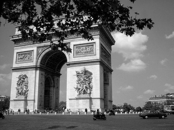 Paris Paris, France  Tree Architecture Travel Destinations City Built Structure Outdoors Growth No People Sky Day Place Of Worship Nature Triumphal Arch Arc De Triomphe, Paris