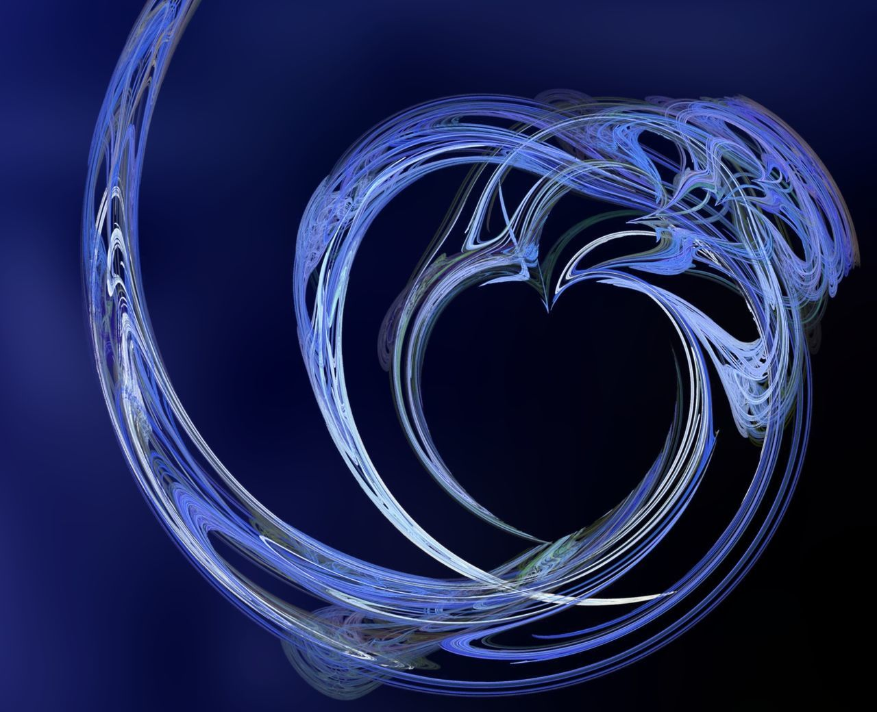 Fractal 9 Beautiful flows of different color build this fractal. Abstract Abstractions Art ArtWork Backdrop Background Black Blue Color Colorful Digital Digital Art Dynamic Effect Fractal Fractals Generated Geometry Heart Love Render Valentine Valentine's Day  Vibrant