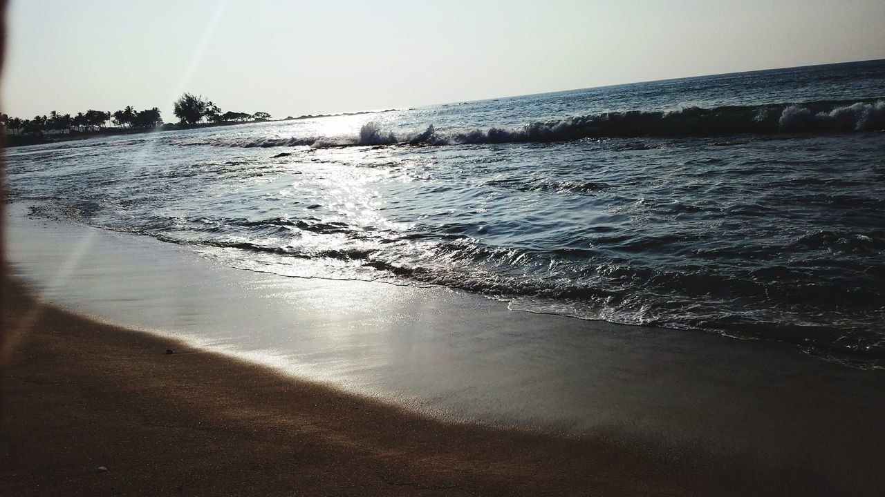sea, water, nature, beauty in nature, beach, scenics, clear sky, tranquil scene, no people, outdoors, sky, wave, horizon over water, day