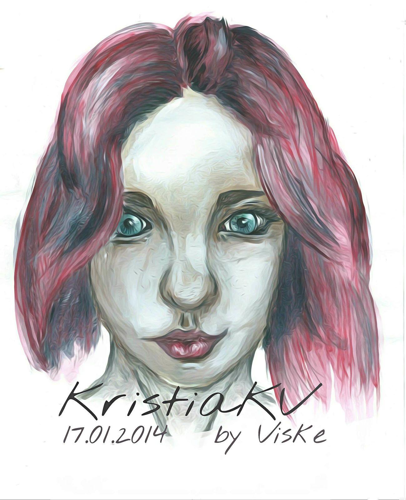 One Person Art, Drawing, CreativityArts Culture And Entertainment Face Pink Color девушка портрет портретдевушки рисунок рисунок красками