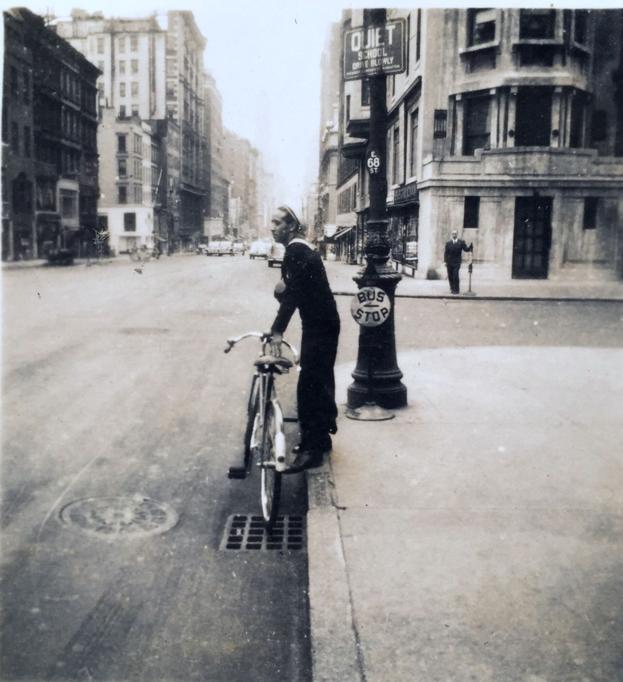Vintage Photo Blackandwhite Real People One Person City