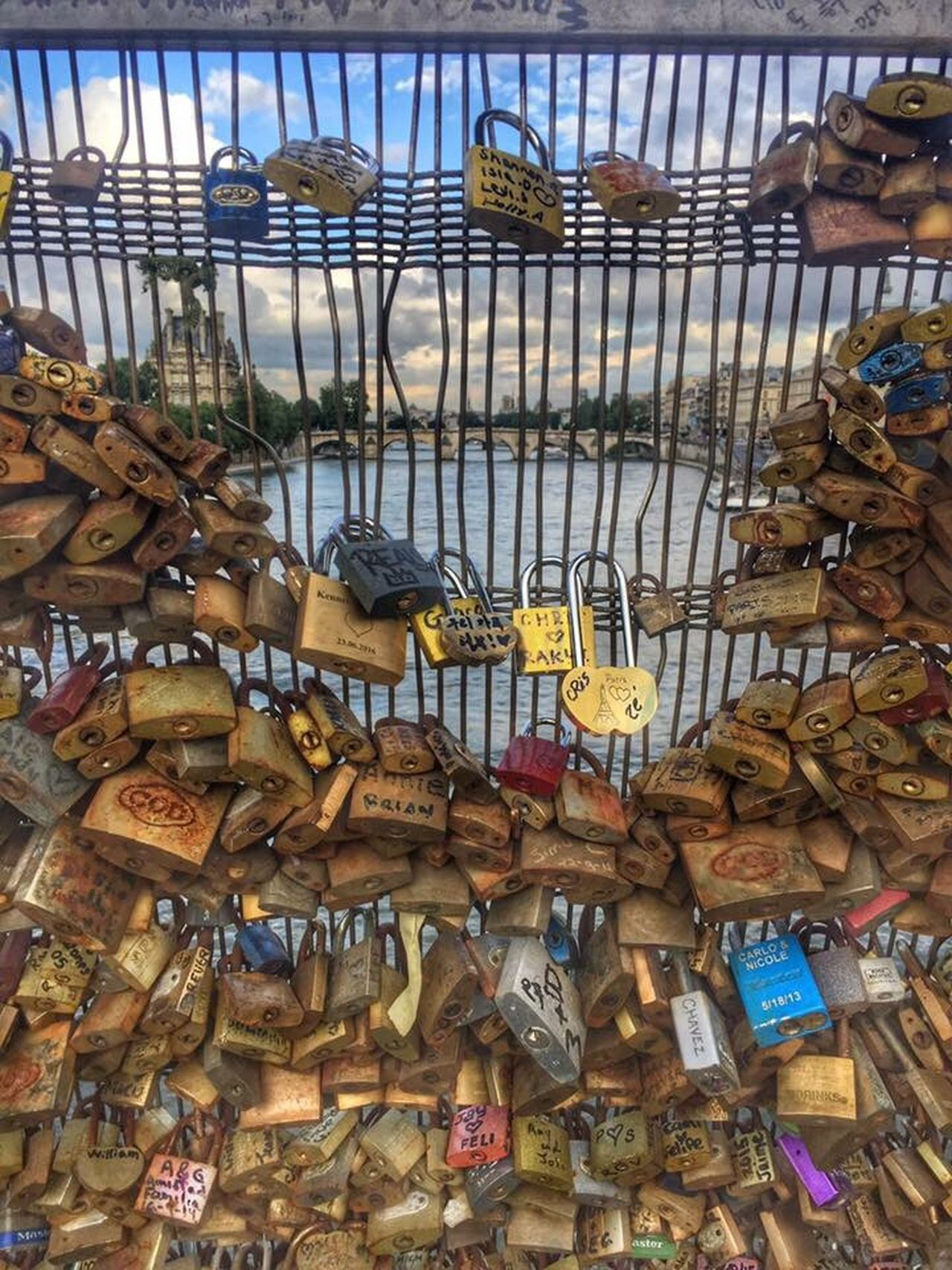 Paris Large Group Of Objects Lock No People Love Lock Bridge Love Locks Bridge Love Locks Beautifully Organized