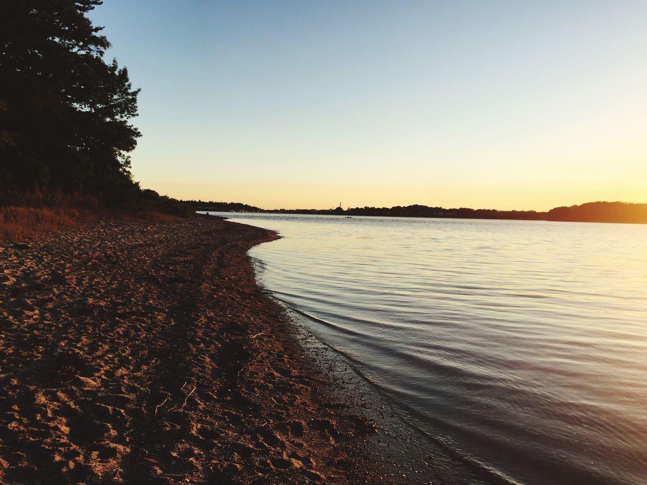 Walking Around Beach Maine Sunset