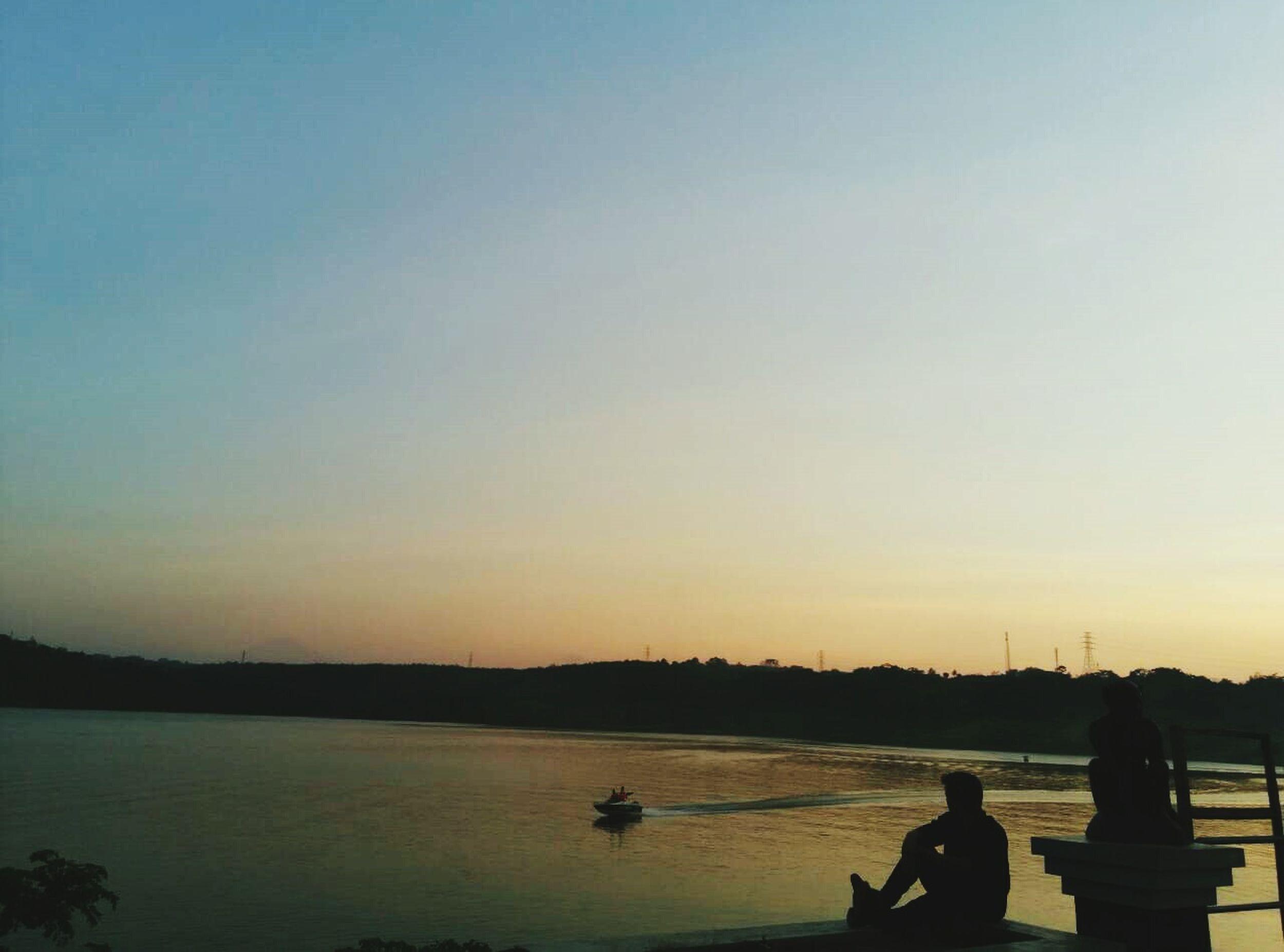 Holiday POV INDONESIA Semarang Sunset Silhouettes Sunset Boats