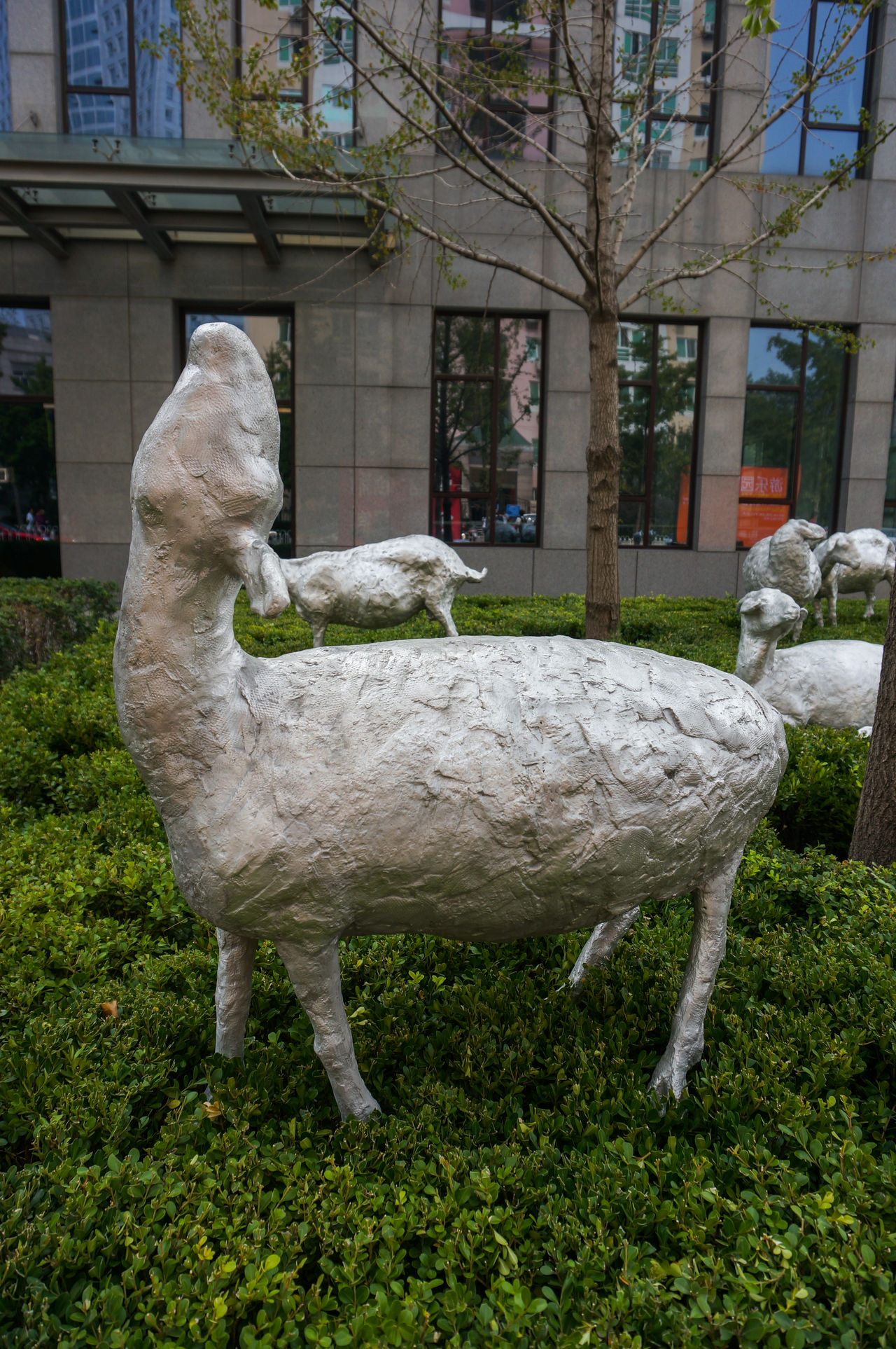 Statue of sheep in 798 art district in Beijing, China 798 798 Art Zone 798艺术区 Animal Themes Art District Art District Beijing Beijing, China China Close-up Grass No People One Animal Outdoors Sheep Statue
