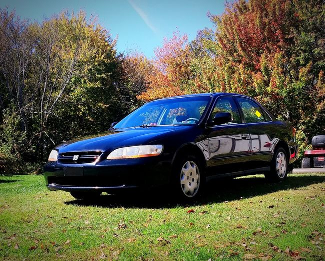 My first car Car Honda Accord 2000 Hondaaccord FirstCar Autumn Check This Out Sky