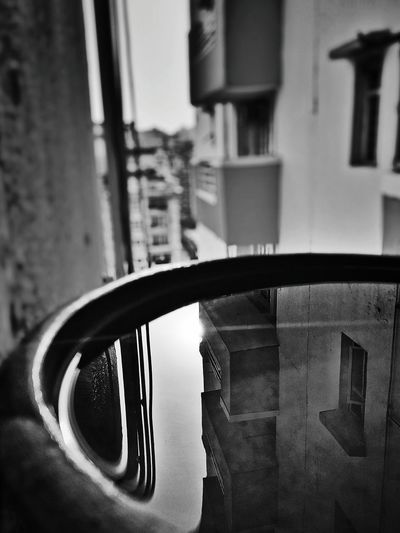 Architecture Window Building Exterior Built Structure Reflection Water Water Reflections Water For Birds Water Pot Summers Black And White No Color
