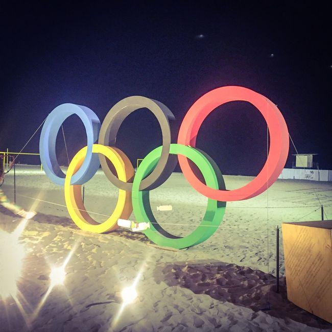 Copacabana Circle Concrete Creativity Multi Colored No People Olympic Outdoors Sun Symbol Water