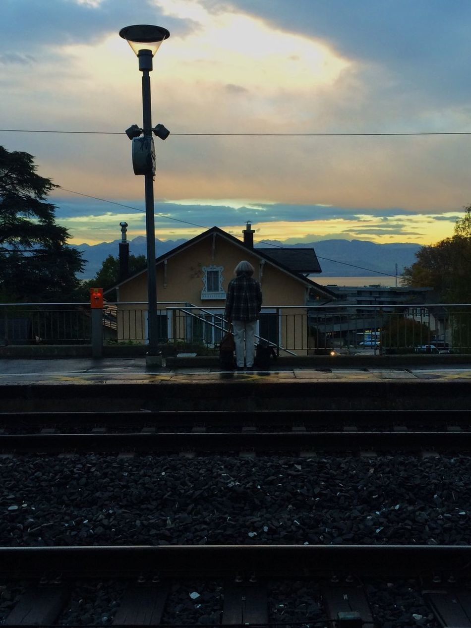 It's cold here ? Automne Hello World Train Station Sky And Clouds