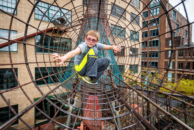 City Museum Stlouis Kids Being Kids Children Playing Climbing Web Exploring Built Structure Exercise Having Fun Perspective City Life Metal Leisure Activity Iron