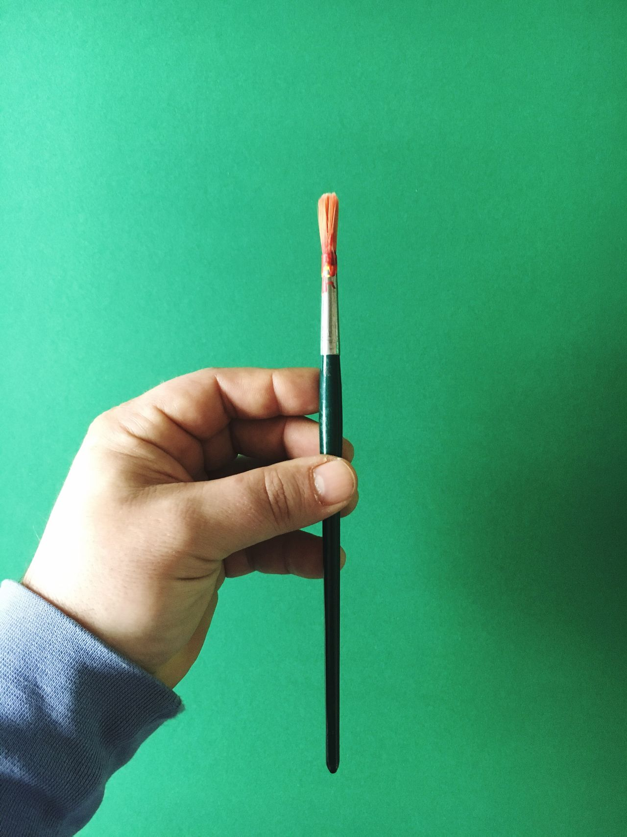Human Hand One Person Holding Human Body Part Studio Shot Close-up Real People Writing Instrument Men Art ArtWork Paint Painting Paintings Brushes Brush