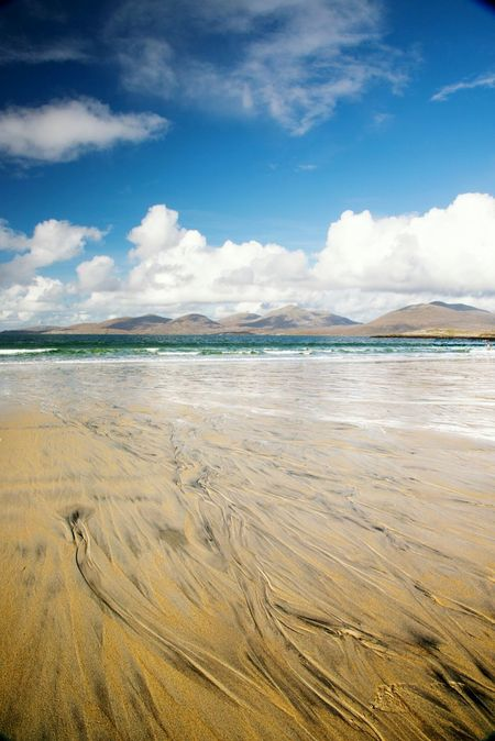 EyeEm Selects Beach Sea Sand Scenics Cloud - Sky Water Landscape Outdoors Travel Destinations Vacations Nature Tourism Tranquility Summer Low Tide Tide Beauty In Nature Sky Horizon Over Water Tourist Destination Luskentyre Beach Isle Of Harris Scenes Outer Hebrides Scottish Landscape