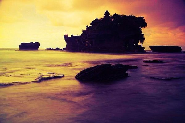 clouds and sky at Tanah Lot Bali by Utty