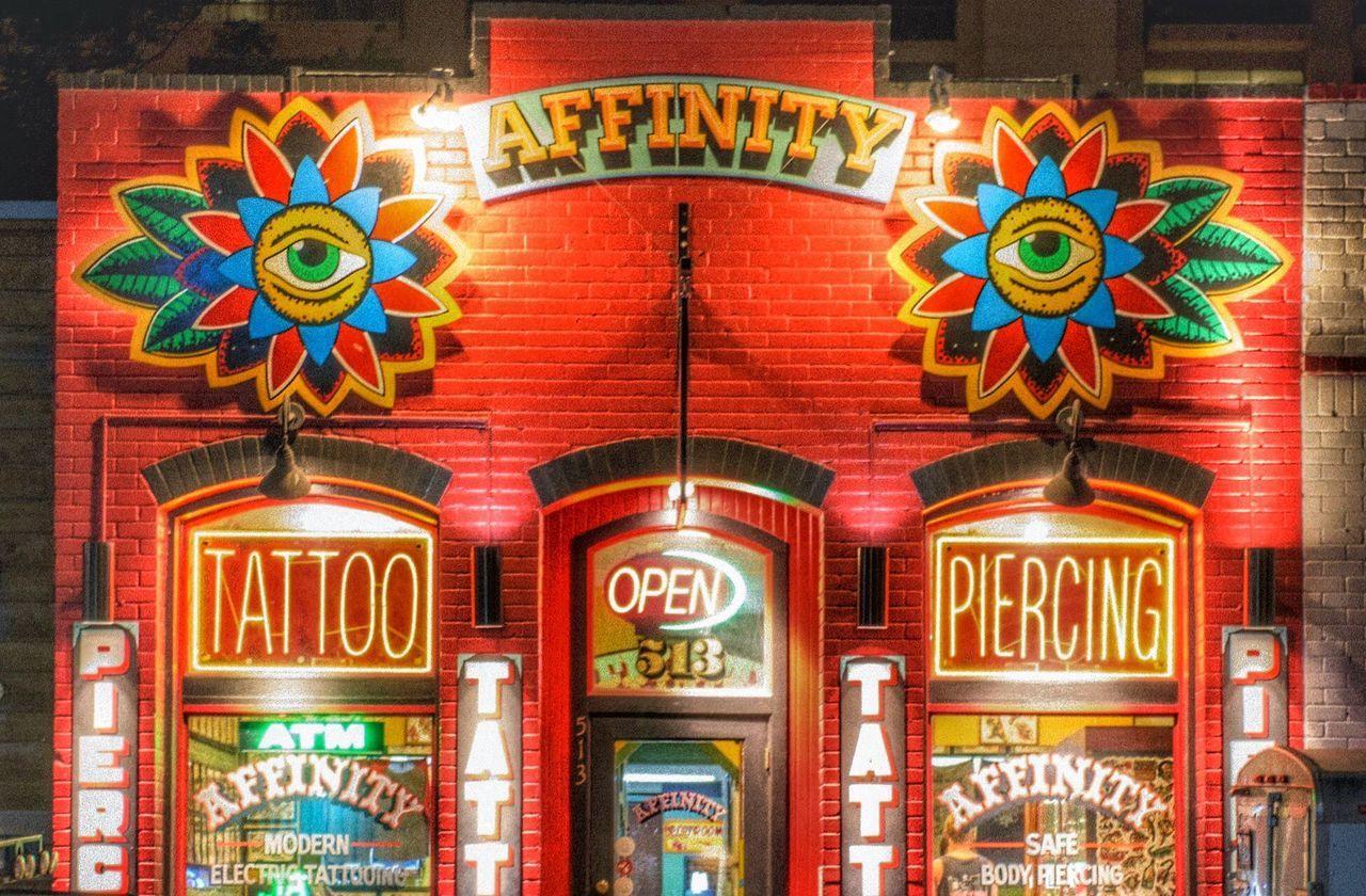 Tattoo Store At Night