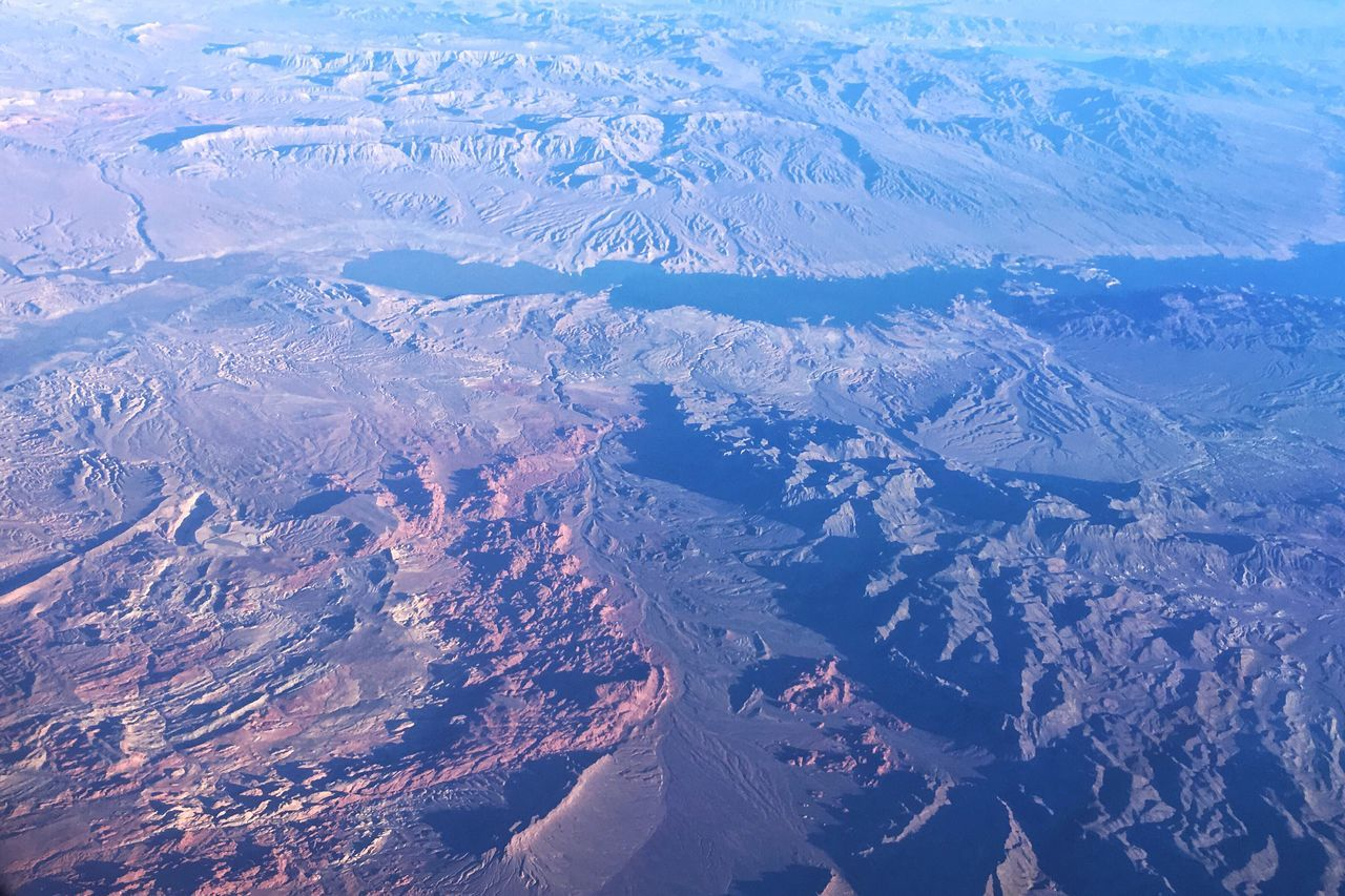 Beauty in the desert Aerial View Landscape Beauty In Nature Tranquil Scene Lake Mead National Recreation Area Desert Landscape Desert Beauty Tranquility Travel Photography Beauty In Nature Valley Of Fire State Park Outdoors Winter City Tranquility Awe Extreme Terrain Cold Temperature Travel Destinations Nature No People