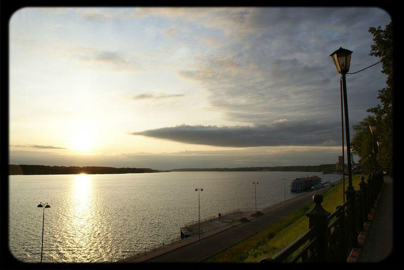 Russia Kineshma Volga River Sunrise Russia россия Кинешма Река Волга восход