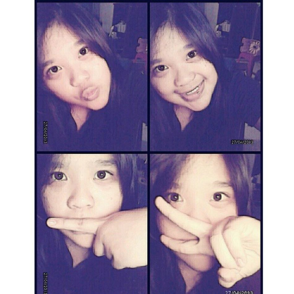 Cute?kkkk I'm not wearing a softlense. Selca Me Takeaselca Kstyle selca camera360 LightColour Paint black tshirt nice girls beauty simple instapict instagood instacool TagsForlove liketolike likeme followme