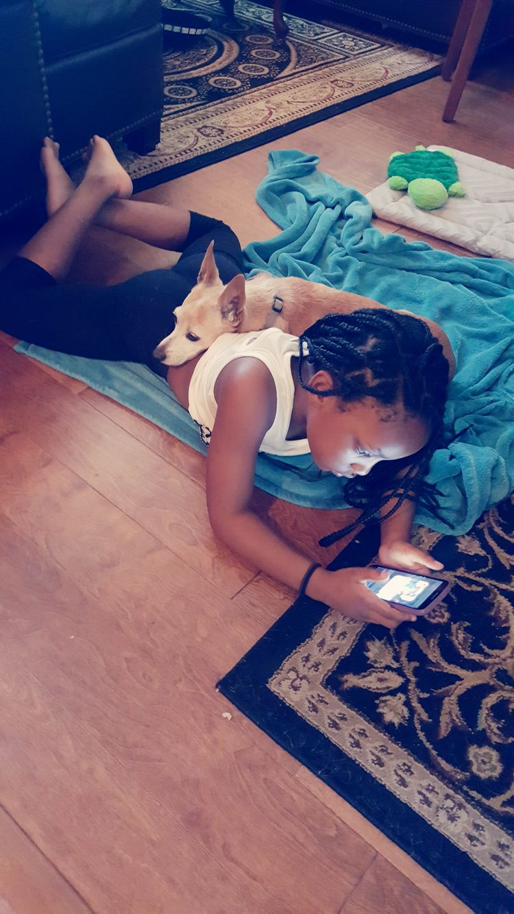 Children Photography Dog❤ Child And Technology