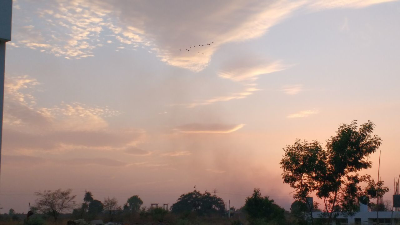 Smoke Birds Sunset Beautiful Sky Redness Clouds And Sky Cloudscape Clouds Showcase April