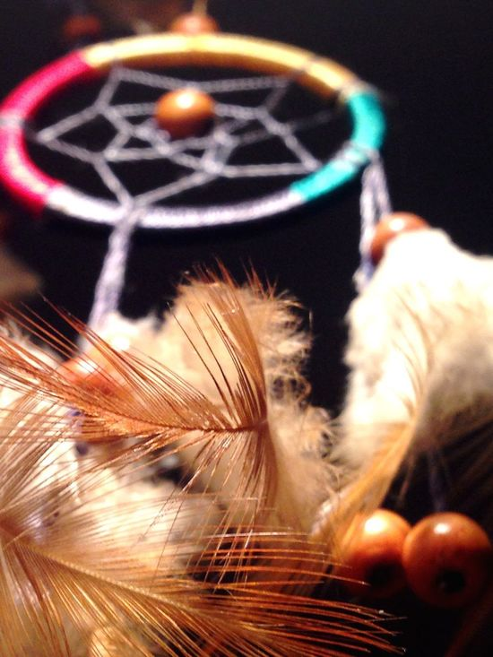Delicate Feathers Woodenbeads Beads Thread Dreamcatcher Indoors  Close-up Feather  No People Day