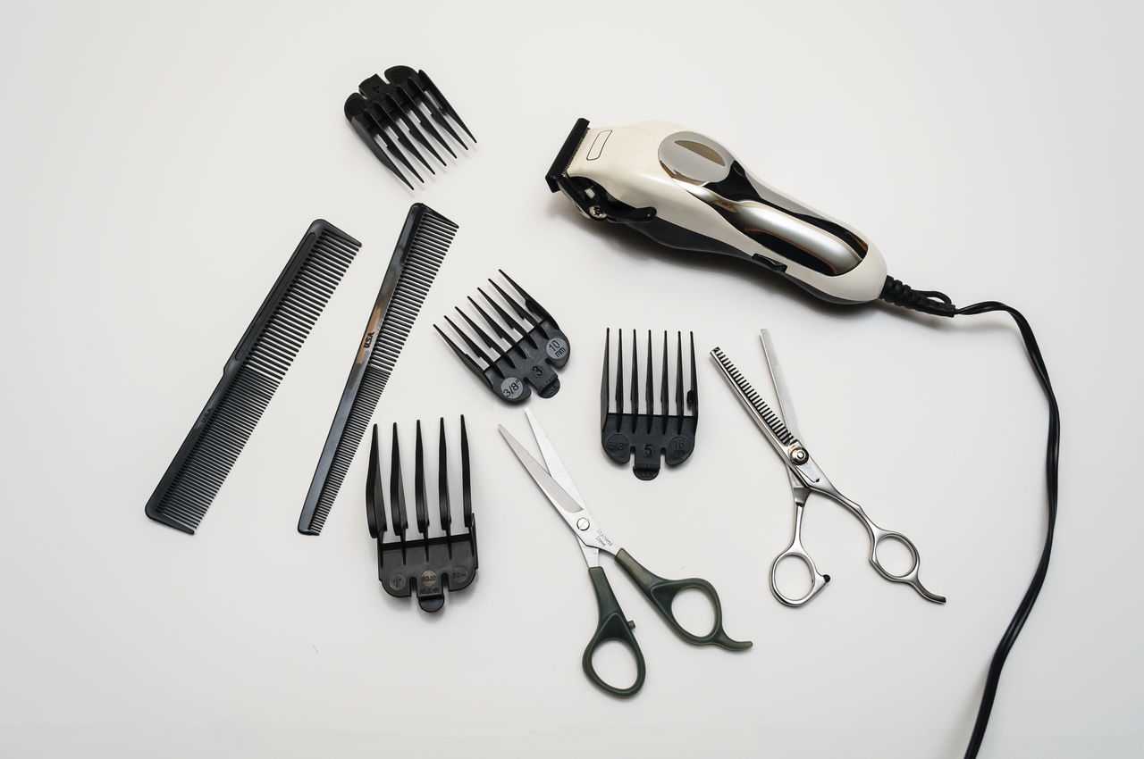 Hairdresser's Tools On White Background