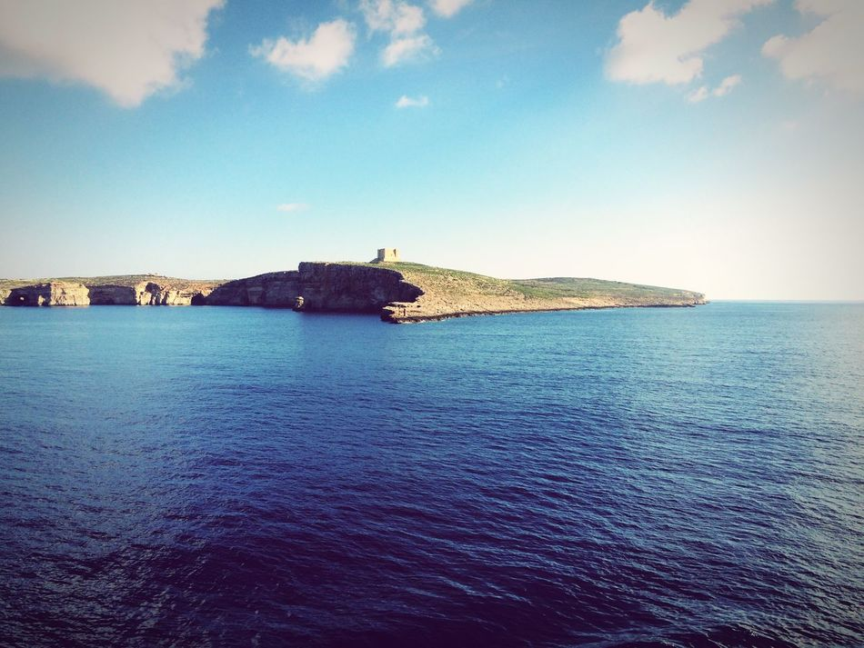 Comino Island Malta Comino Cominotower Sea Sky Tranquil Scene Horizon Over Water Friendtrip Holiday