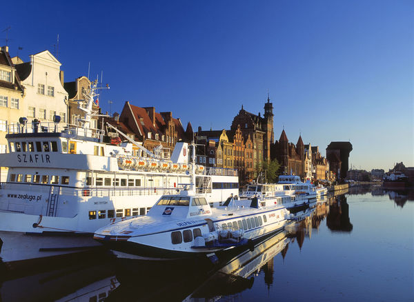 Gdańsk, Poland Blue Danzig Gdansk Gdańsk. Harbor Motlawa Motława Motława Nautical Vessel Passenger Craft Poland Polen Ship Water
