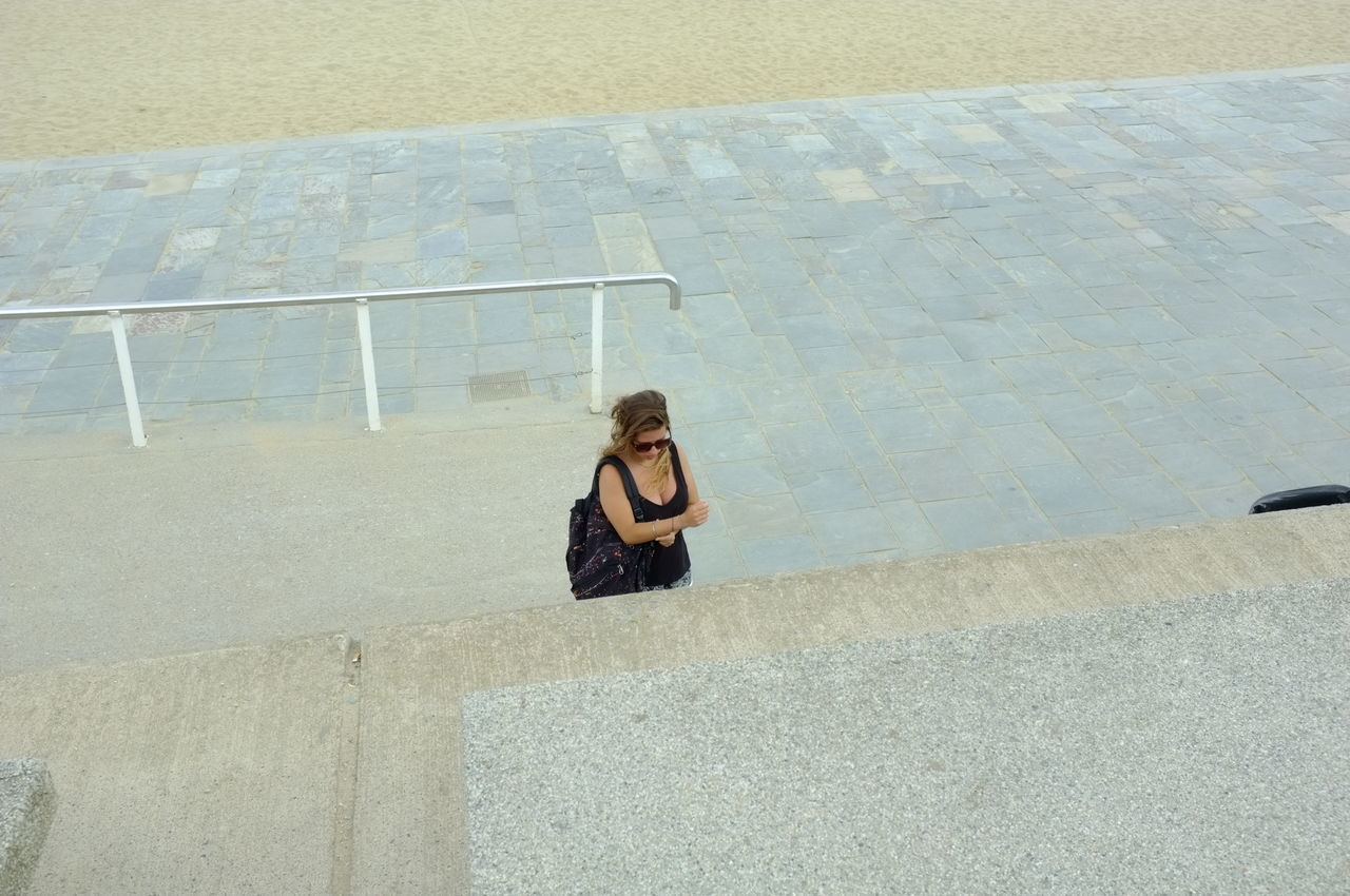A woman High Angle View Day Real People Outdoors Beach