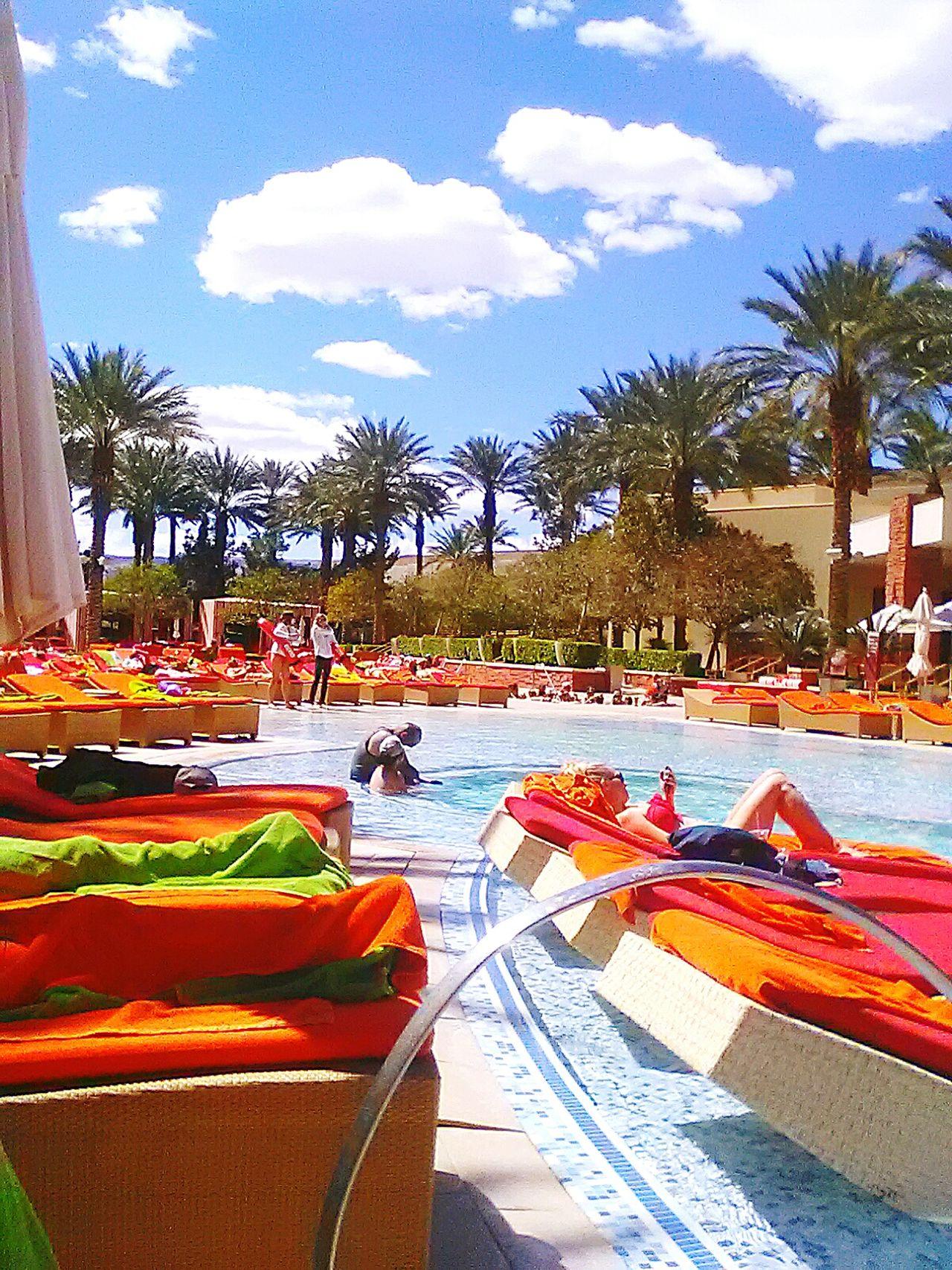 Outdoors Sky Tree Cloud - Sky People Day Poolsideview Red Rock Casino Pool Las Vegas EyEmNewHere EyeEm Best Shots EyeEm Gallery EyeEm Best Edits Beauty In Nature EyeEmNewHere