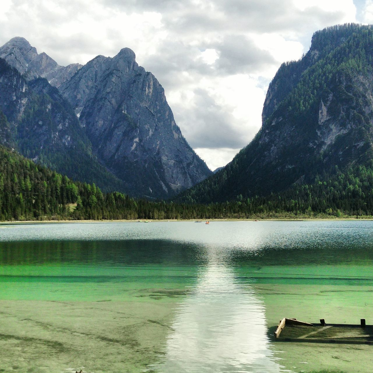 Scenic Landscape With Lake In Mountains