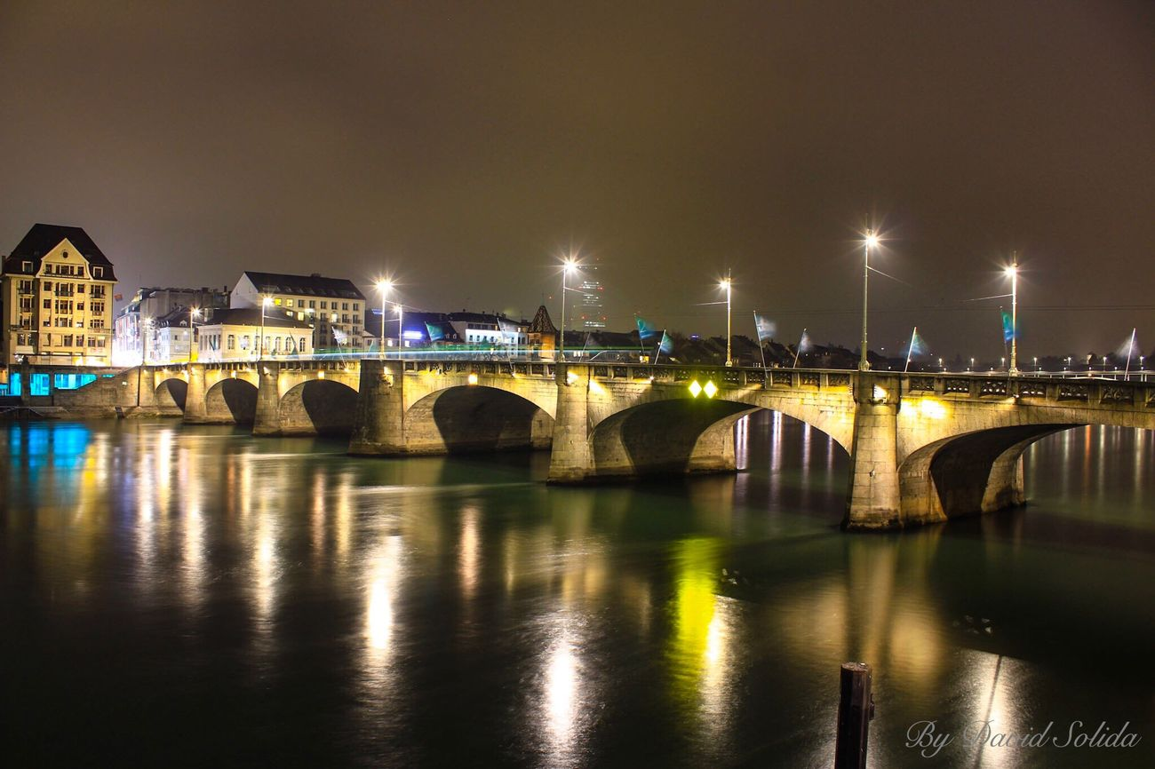 Basel by night. Was very nice today. Canon Night Phoneography Langzeitbelichtung ND Filter The City Light