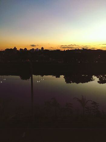 Reflection Sunset Water Sky Nature Beauty In Nature Tree Day Saopaulo City Cloud - Sky First Eyeem Photo