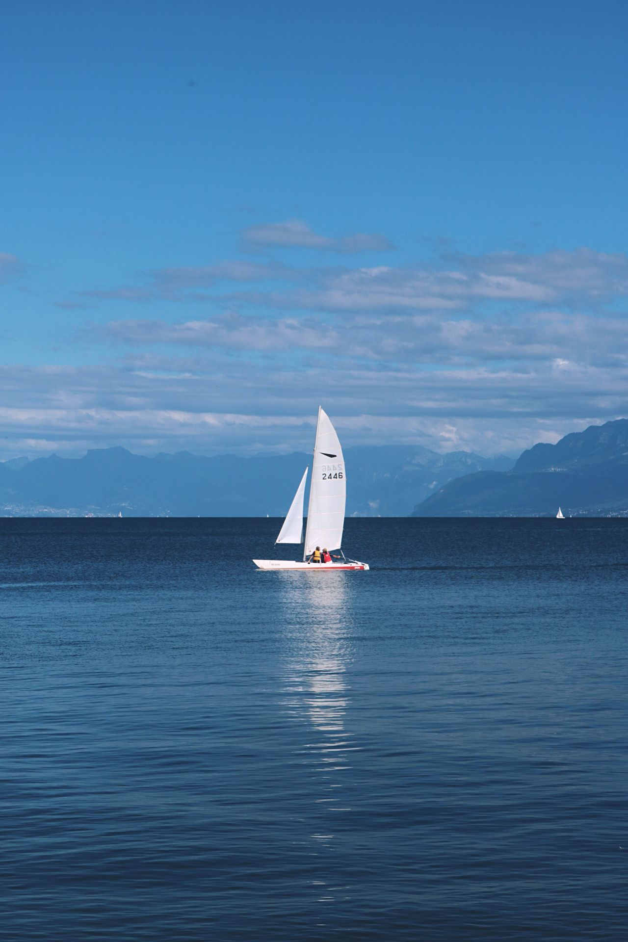 Rolle  Lake Leman Lake Switzerland Leman Vacations Nautical Vessel Sky Outdoors Adventure Blue