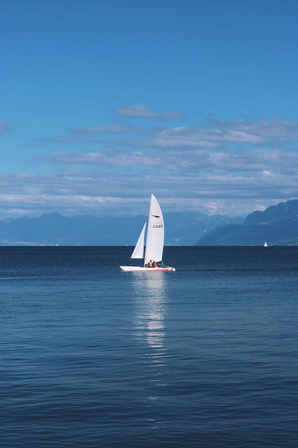 Rolle  Lake Leman Lake Switzerland Leman Vacations Nautical Vessel Sky Outdoors Adventure Blue