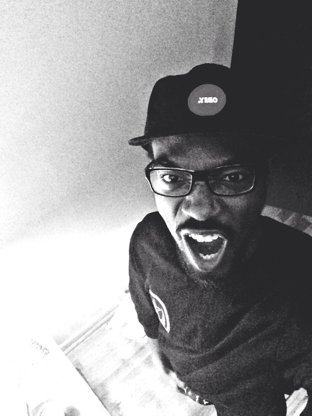OBEY Strapback Scream Black And White