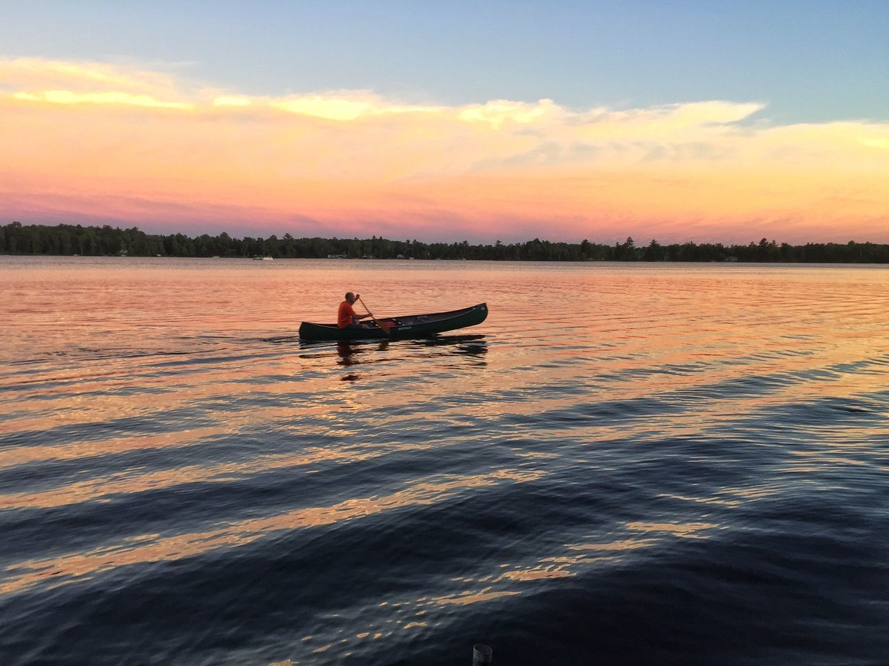 Evening paddle EyeEm Nature Lover Iphoneonly Water Canoe Nature Summer Sunset Taking Photos