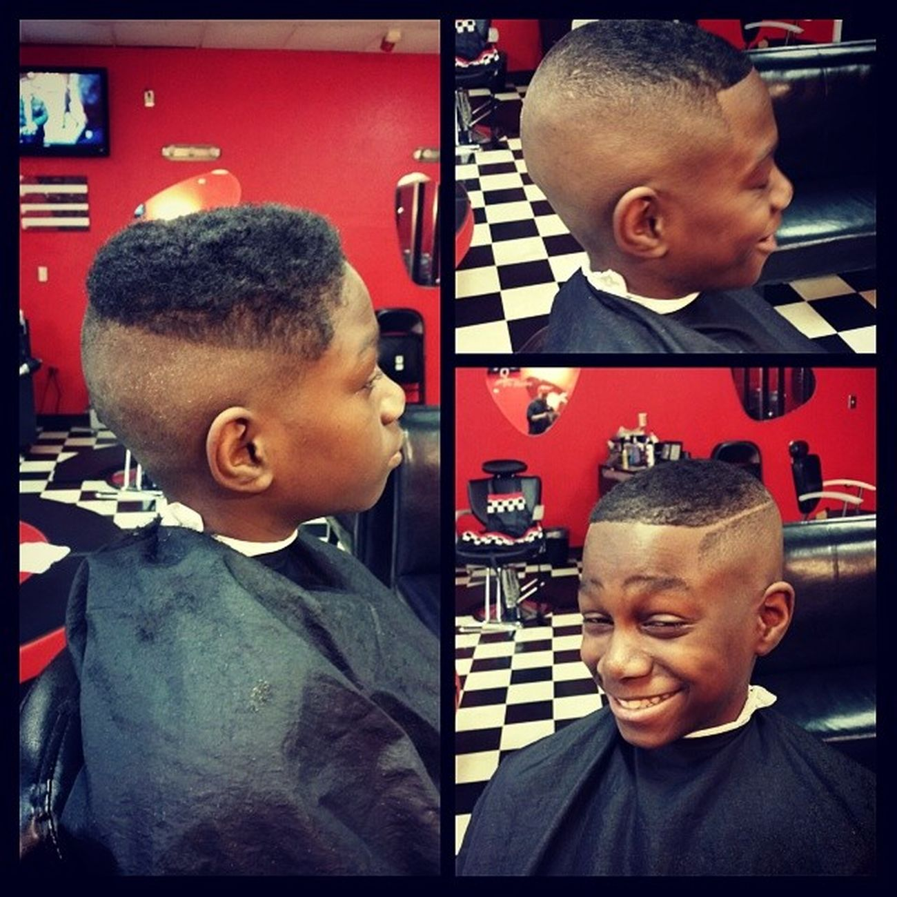 Lil dude got me working hard on my off day. High bald fade with a part @sophista_cutz BaldFade Barbergang Barbershopconnect RazorWork Razoredge BlurryFades