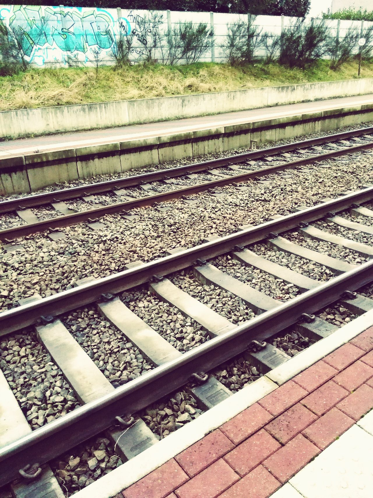 Train Station Train Rails Railway Track Stones