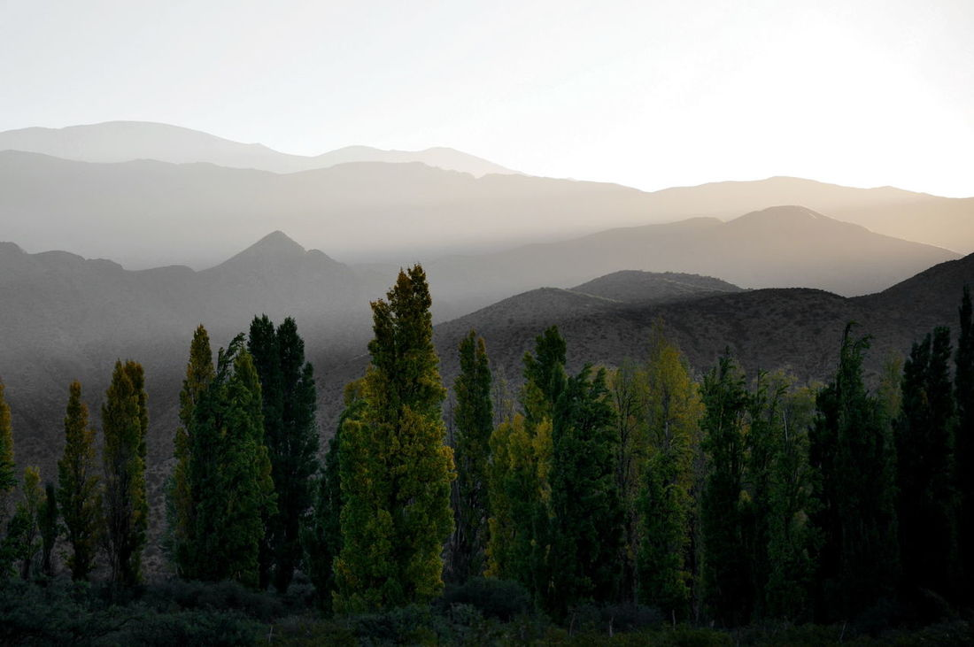 San Juan, Argentina Shadows & Lights Mountain View Silhouette Black & White l Silueta Landscape