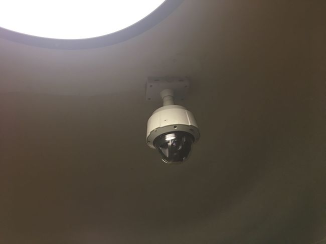 Electricity  Low Angle View Lighting Equipment Indoors  No People Light Bulb Built Structure Illuminated Close-up Architecture Day Security Camera Surveillance