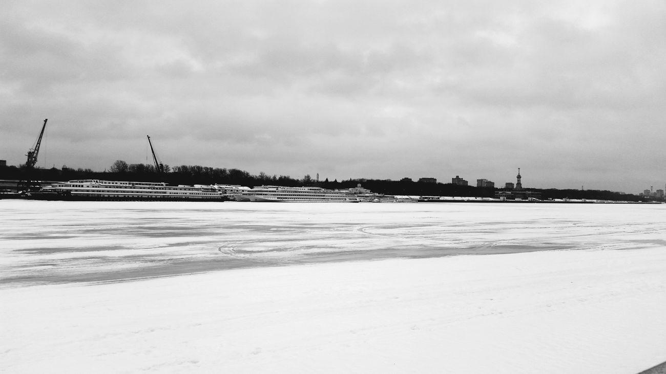 Blackandwhite Winter Lines
