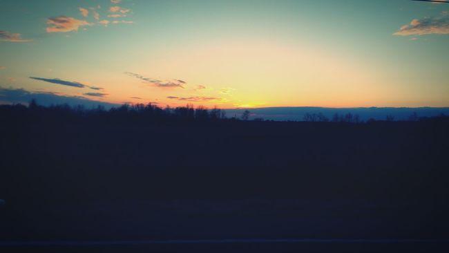A beautiful February sunset in Ohio Sunset February 2016 Ohio, USA Goodbye Winter, Welcome Spring