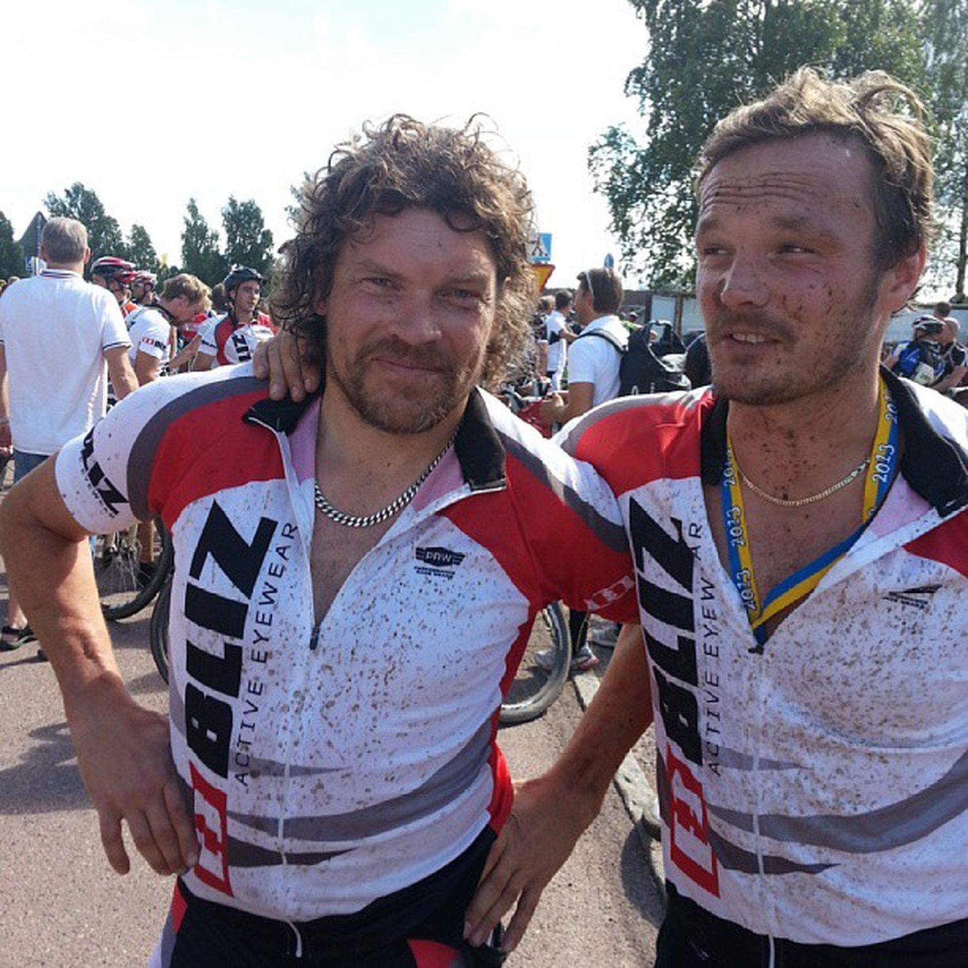 I mål på 3.45ish Winning Cykelvasan Skiteamswedenskicross Kramp