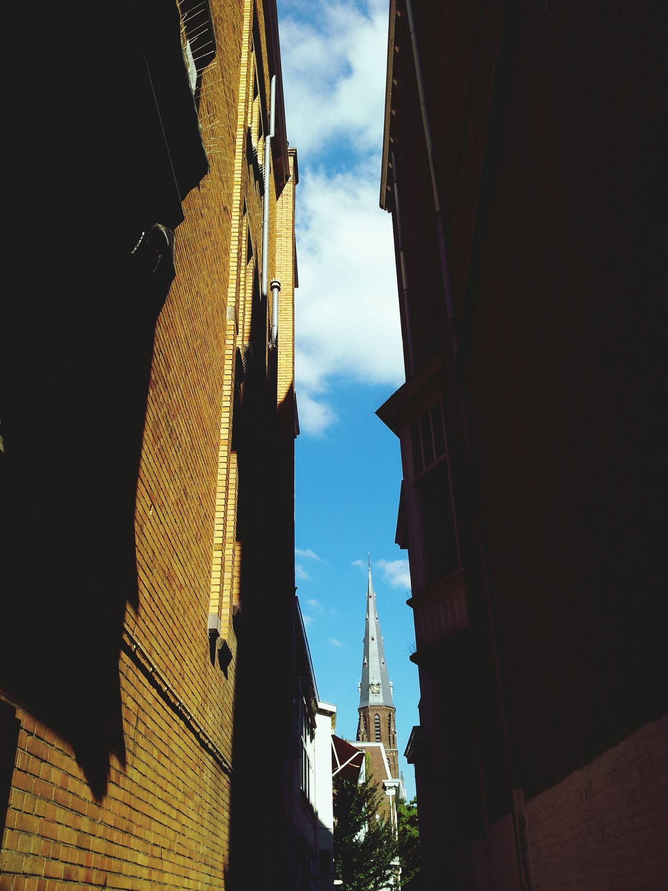 The little church. Blue Skies Den Haag City Streets  Netherlands