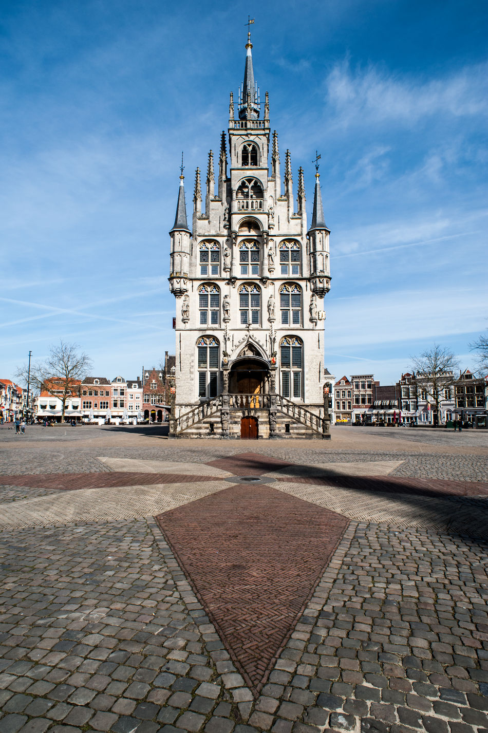 Gouda town hall Architecture Building Exterior Built Structure City City Clear Sky Day Gouda Holland Netherlands No People Outdoors Place Of Worship Sky Town Hall Town Square Tranquility Travel Destinations Urban Wideangle